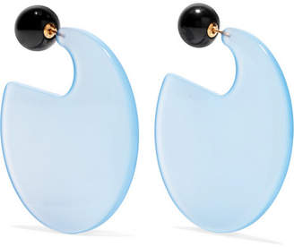 Marni Resin Earrings - Light blue