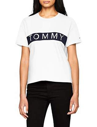 Tommy Hilfiger Tommy Jeans Women's T Shirt Short Sleeve Graphic Logo Tee Relaxed Fit