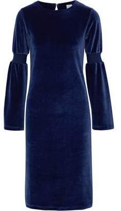 Iris & Ink Lynnie Cotton-Blend Velvet Dress