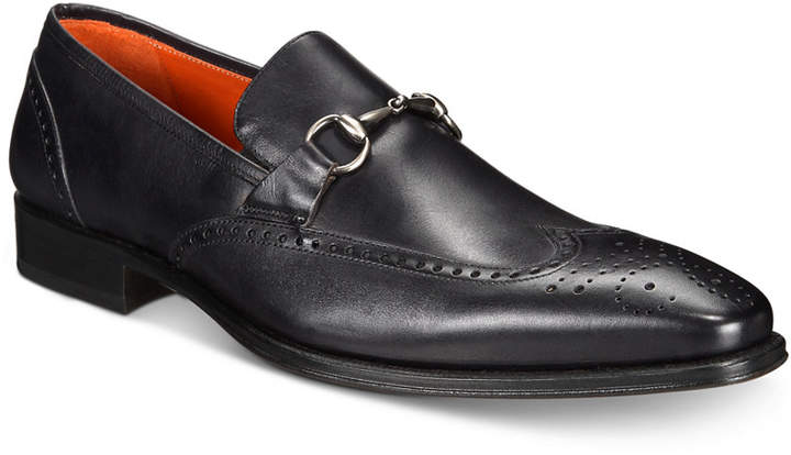 Mezlan Men's Horse Bit Wingtip Loafers Men's Shoes