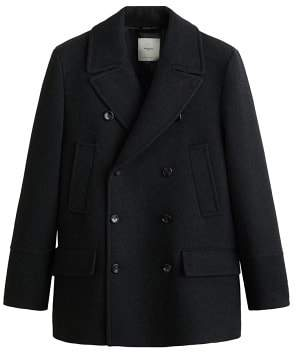 MANGO MAN Double-breasted lapels coat