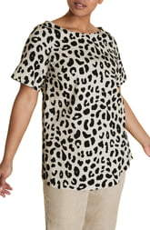 Marina Rinaldi Fregio Tunic with Attachable Sleeves