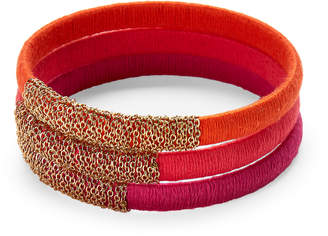 Panacea Pannee By Set of 3 Neon Mix Wrapped Bangles