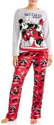 Disney Diney Mouse Women's and Women's Plus Pajama Set