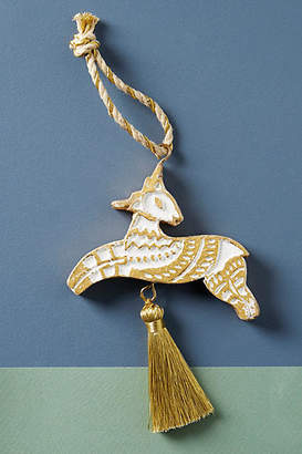 Anthropologie Carved Animal Ornament