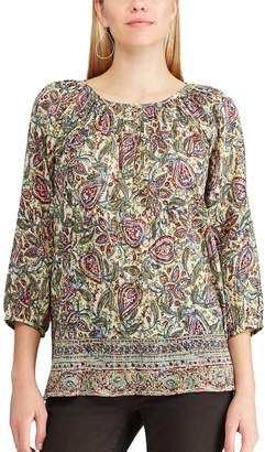 Chaps Women's Floral Peasant Top