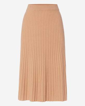 N.Peal Ribbed Cashmere Skirt