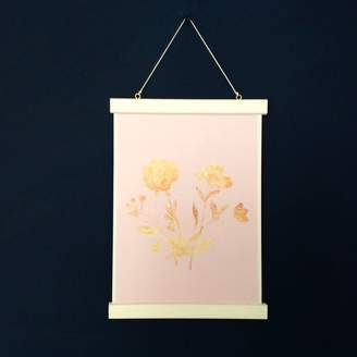 Kitty's Prints Gold Flower Giclee Print