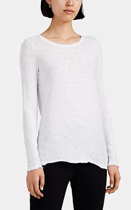 ATM Anthony Thomas Melillo Women's Slub Jersey Long-Sleeve T-Shirt - White