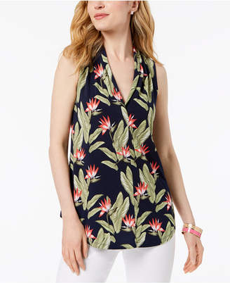 Charter Club Printed Sleeveless Top