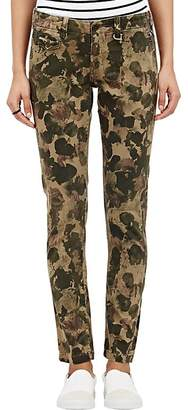 Chip Foster CHIP FOSTER WOMEN'S HAND-PAINTED CAMOUFLAGE-PRINT TROUSERS