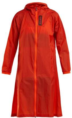 Calvin Klein Hooded Water Repellent Coat - Womens - Orange