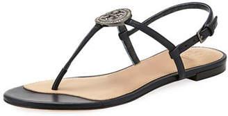 Tory Burch Liana Flat Embellished Thong Sandals