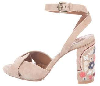 See by Chloe Suede Ankle-Strap Sandals