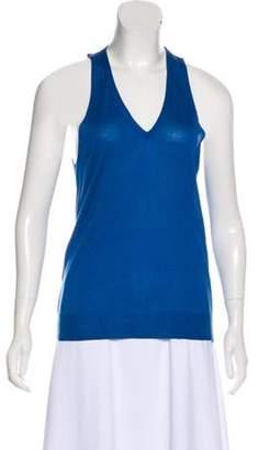 Dries Van Noten Lightweight Sweater Vest Blue Lightweight Sweater Vest