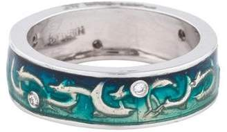 Hidalgo 18K Diamond & Enamel Dolphin Band
