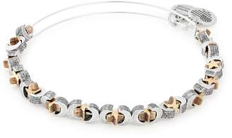 Alex and Ani Moon & Star Beaded Adjustable Wire Bangle