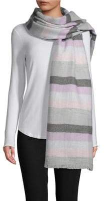 Lord & Taylor Striped Wrap