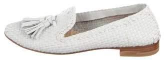 Prada Woven Tassel Loafers