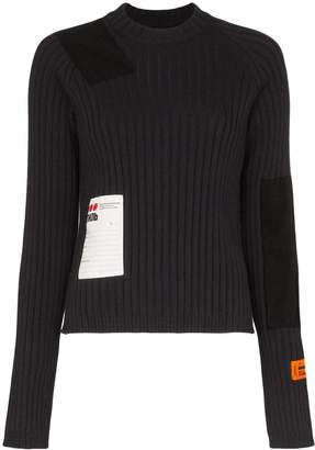 Heron Preston ribbed logo patch top