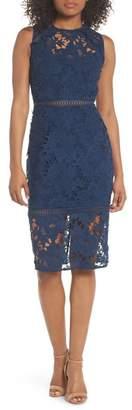 Cooper St Lustrous High Neck Lace Sheath Dress