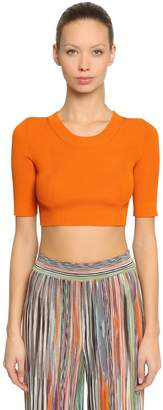 Missoni Rib Knit Crop Top