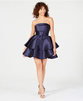 f08d95810 B. Darlin Juniors' Strapless Tiered Fit & Flare Dress