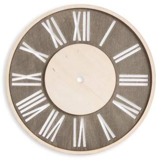 All Things You Roman Numeral Clock Face: Distressed Wood, Round, 9 inches