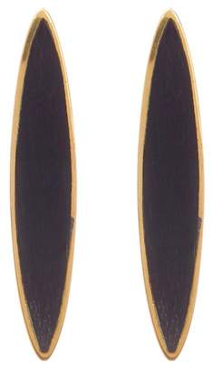 Soko Jicho Black Stone Oval Drop Earrings