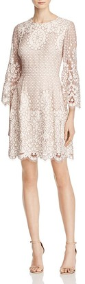 Eliza J Bell-Sleeve Lace Dress $158 thestylecure.com