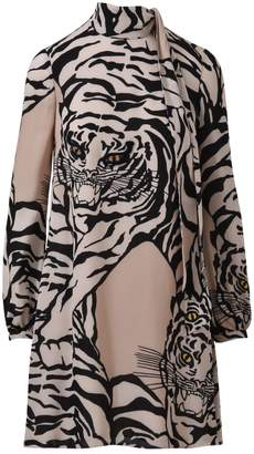 Valentino Tiger Pattern Midi Dress