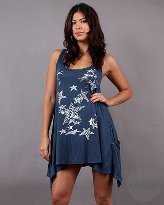 Lauren Moshi Swing Pocket Stars Dress