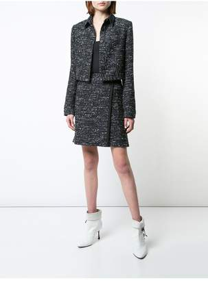 ADAM by Adam Lippes Cotton Tweed Cropped Jacket With Patch Pockets