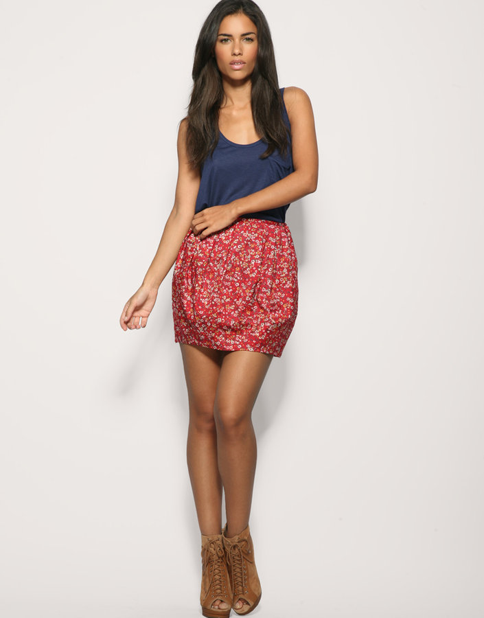 Rare Ditsy Floral Tulip Skirt