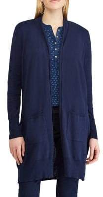 Chaps Open-Front Cardigan