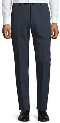 Incotex Men's Benson Crepe Wool Comfort Trousers