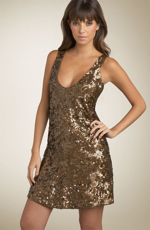 French Connection 'Snowball Sequins' Tank Dress