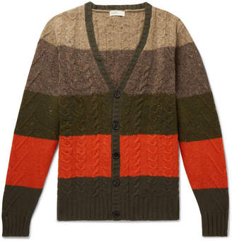 Etro Striped Cable-Knit Wool And Cashmere-Blend Rollneck Sweater