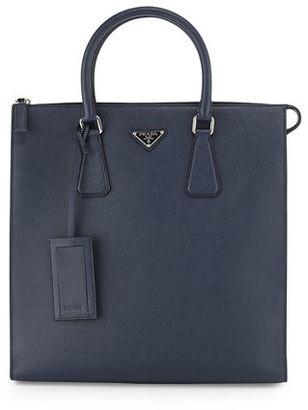 Prada Saffiano Leather Zip-Top Tote Bag $1,950 thestylecure.com