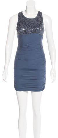 Alice + OliviaAlice + Olivia Embellished Silk Dress w/ Tags