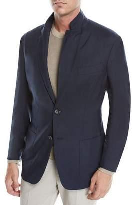 d8bc4672f Ermenegildo Zegna Men's Cashmere-Silk Two-Button Blazer Jacket, ...
