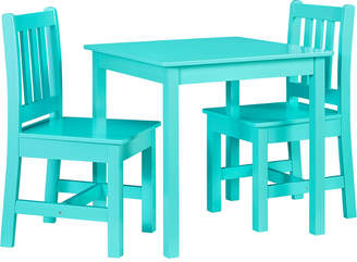 Linon Jaydn Teal Kid Table And Two Chairs