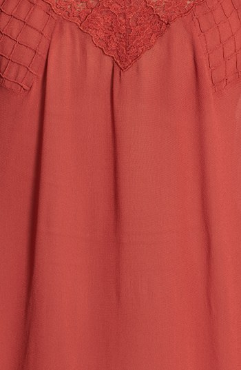 Max & Mia Lace Insert Woven Blouse