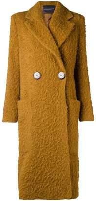 Cavallini Erika chunky single-breasted coat
