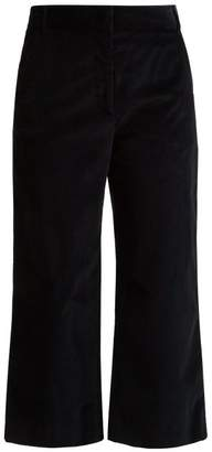 Max Mara Puzzle Corduroy Cropped Trousers - Womens - Navy