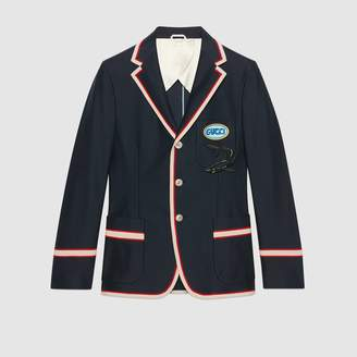 Gucci Cotton jacket with pool patch