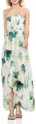 Vince Camuto Sunlit Palm Smocked Maxi Dress