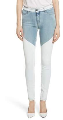 BROCKENBOW Emma Coated Skinny Jeans