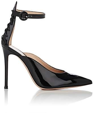 Gianvito Rossi Women's Patent Leather Ankle-Strap Pumps - Black