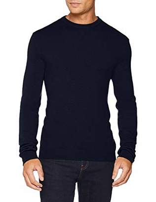 Benetton Men's Sweater L/s Jumper, (Dark Blue 016), X-Small